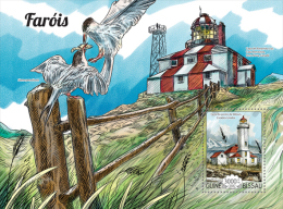 GUINEA BISSAU 2015 - Lighthouses S/S. Official Issue - Vuurtorens