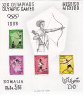 Somalia 1968,Olympic Games Mexico SOUVENIR SHEET  MNH Superb, Scarce-Nice Topical S.sh..SKRILL PAY ONLY - Somalia (1960-...)