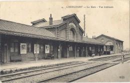 - 62 - LIBERCOURT - Vue Intérieur De La Gare Avant La Guerre - - France