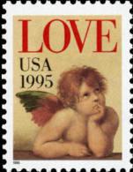 1995 USA Love Cherub (32c) Stamp #2948 Angel - Fairy Tales, Popular Stories & Legends