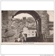MLGTP1583CPA-LFTMD1667TABUR.Tarjeta Postal Española,de Ronda,Malaga.ARCO ROMANO, Burro, Personas Edificios Y Personas.. - Burros