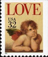 1995 USA Love Cherub 32c Booklet Stamp #2959 Angel - Fairy Tales, Popular Stories & Legends