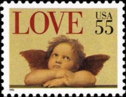 1995 USA Love Cherub 55c Stamp #2958 Angel - Fairy Tales, Popular Stories & Legends