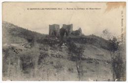 Saint Germain Les Paroisses Ruines Du Château De Beauretour - Altri Comuni