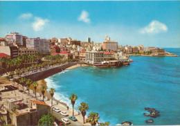 BEIRUT BEYROUTH , sea shore, French Avenue,  Hotels , LIBAN LEBANON, vintage old photo postcard