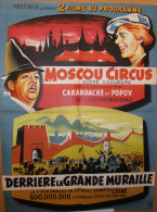 Affiche De Cinéma, 2 Films Au Programme, Dimension 56 Cm * 76 Cm ,Moscou Circus - Afiches