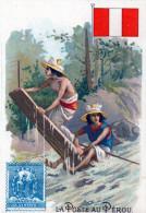 "-  Chromo "" La Poste Au PEROU - 804 - Tea & Coffee Manufacturers"