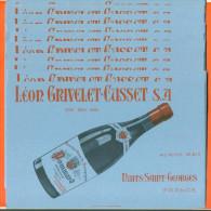 """Lot De 10 Buvards   """"  Pommard Leon Grivelet Cusset  à Nuits Saint Georges  """" - Lots & Serien"""