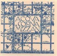 """03087  """"TRIESTE - MIZZAN - ACQUA DI COLONIA """".  ETICHETTA ORIGINALE - Etichette"""