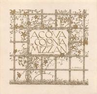 """03088  """"TRIESTE - MIZZAN - ACQUA DI COLONIA """".  ETICHETTA ORIGINALE - Etichette"""