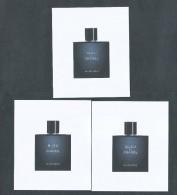 3 X Singapore Perfume Cards Carte Parfumee --  BLEU DE CHANEL - Cartes Parfumées