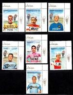 7 TIMBRES CYCLISME CHAMPION OF SPORT CYCLISME: RUDI ALTIG JULIO JMENEZ, EDDY MERCKX, JACQUES ANQUETIL, JAN JANSSEN... - Ciclismo