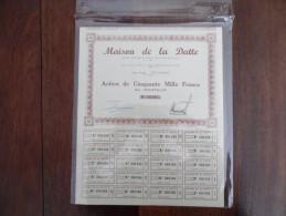 ALGERIE :  MAISON DE LA DATTE , Action Au Porteur - Touggourt 1935 (Rare , 400 Actions émises ) - Agriculture