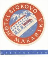 ETIQUETTE  -  Hotel Biokovo - Makarska - Hotel Labels