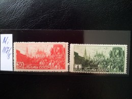 USSR/Russia 1947 Arbeit MNH MI:1117-1118 - Ongebruikt