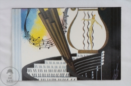 ERTE - Musique - Bar Tabarin 1945 - From Erte, 20 Beautiful Colour Postcards 1994 - Advertising