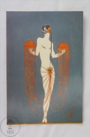 ERTE - The Girl With The Scarab 1925 (Private Collection) - From Erte, 20 Beautiful Colour Postcards 1994 - Advertising