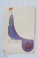 ERTE - La Tosca 1920-5 (Private Collection) - From Erte, 20 Beautiful Colour Postcards 1994 - Advertising