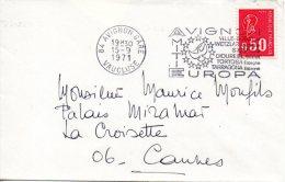 FRANCE. Enveloppe Ayant Circulé Avec Flamme De 1971. Europa/Avignon. - Idées Européennes