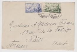 ESPAGNE ENVELOPPE 30 DÉCEMBRE 1953 CORREO AEREO VERS PARIS FRANCE - 2 Scans - - 1931-Today: 2nd Rep - ... Juan Carlos I