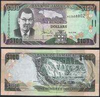 Jamaica P 84 B - 100 Dollars 15.1.2006 - UNC - Giamaica