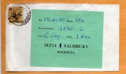 Rhodesia MPO Cover Mailed - Rhodesien (1964-1980)