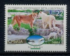 Serbia 2011 Anniversary 75 Years, Zoo, White Lion, Fauna, Stamp MNH - Non Classés