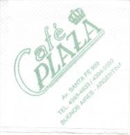 NAPKIN PAPEL SERVILLETA PAPER SERVIETTE  - CAFE PLAZA - AVENIDA SANTA FE ESQUINA CARLOS PELLEGRINI BARRIO NORTE BUENOS A - Tovaglioli Bar-caffè-ristoranti