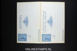 San Marino: Cartolna Postale Con Risposta - Interi Postali