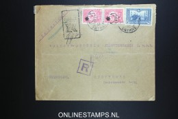 Turkey:  Registered Cover Smyrne To Waldorf Astoria Stuttgart Germany, 1916, Mixed Stamps With Seal - 1921-... République