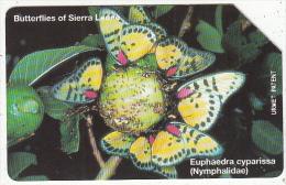 SIERRA LEONE - Butterflies Of Sierra Leone/Euphaedra Cyparissa(100 Units), Used