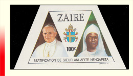 Zaire 1316**  100z  Béatification De Soeur Anuarite Nengapeta   MNH - 1980-89: Neufs