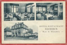 68 - COLMAR - Hotel - Restaurant HAGENECK - Route De Wintzenheim - Voir état - Colmar
