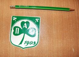 Vintage 70's Foot Panathinaikos PAO 1908 Sticker Decal - Non Classificati