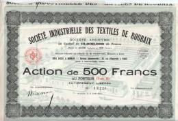 1925 - Société Industrielle Des Textiles De Roubaix - FRANCO DE PORT - Textile