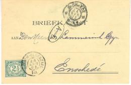 1903 Correspondentiekaart  Van ARNHEM  Via ARNHEM-OLDENZAAL VII Van 24 APR 03 Naar Enschede - Covers & Documents