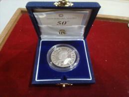 ITALIA 10000 LIRE 1996 50 ANNIVERSARIO DELLA PROCLAMAZIONE DELLLA REPUBBLICA AG SILVER FONDO SPECCHIO - Commemorative