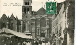 CPA 53 LAVAL ENTREE DE LA CATHEDRALE 1909 - Laval
