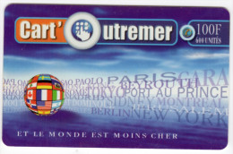 GUADELOUPE CART OUTREMER Ref MV CARD ANTF CO2e Date 1999 - Antilles (French)