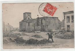 Cpa BAZEILLES (08) Laplace De L'église Au Lendemain De La Bataille - France