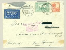 Nederlands Indië - 1929 - 75ct LP Zegel, KNIVL-strook En Propellorstempel - Nederlands-Indië