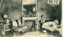 CPA 53 LAVAL CHATEAU DES BOIS DE L HUISSERIE GRAND SALON 1919 - Laval