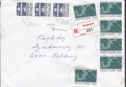 Denmark Registered Einschreiben HADERSLEV Label 1993 Cover Brief 4-Stripe Diplomatische Beziehungen Zwischen Russland - Dänemark