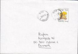 Norway MØRKVED 1989 Cover Brief To ODENSE Denmark Pilze Mushroom Stamp - Briefe U. Dokumente