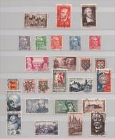 FRANCE 1951 ENTRE N° 878 ET 918 (o) (YT) FONTAINEBLEAU FERRY CAEN CLEMENCEAU ETC... - Francia