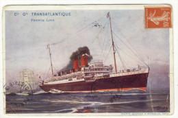 "Cie Gle TRANSATLANTIQUE  FRENCH LINE. - SS  "" ROCHAMBEAU"" - Steamers"