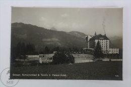 Old Real Photo Postcard Switzerland - Gstaad, Schwimmbad & Tennis B. Palace Hotel - Tenis