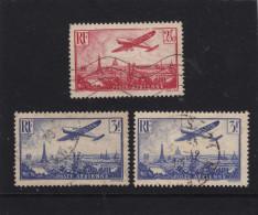 Frankreich 1936 Michl 308 /309 Flugzeug über Paris Gest. - Ohne Zuordnung