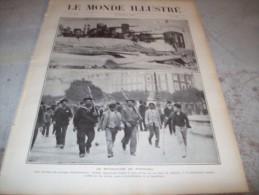 LE MONDE ILLUSTRE 15 OCTOBRE 1910 : REVOLUTION AU PORTUGAL - TCHAD - GR�VE SUR LE RESEAU DU NORD