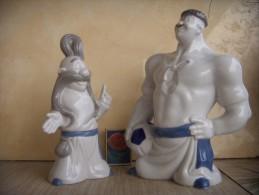 Cossacks Players Set (2 Pieces). Porcelain. Korosten. Ukraina. 2003. The Plant Already Exists. Height: 20 And 17 Cm. - Sculptures